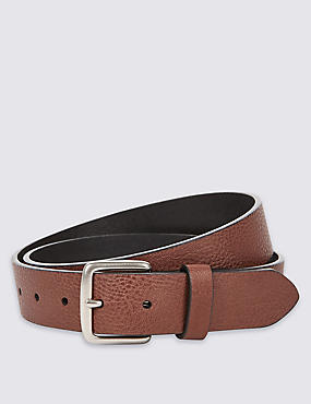 Faux Leather Grain Belt