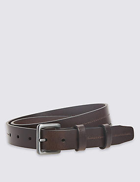 3cm Double Keeper Leather Belt