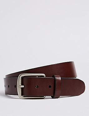 Saddle Edge Leather Belt, OXBLOOD, catlanding