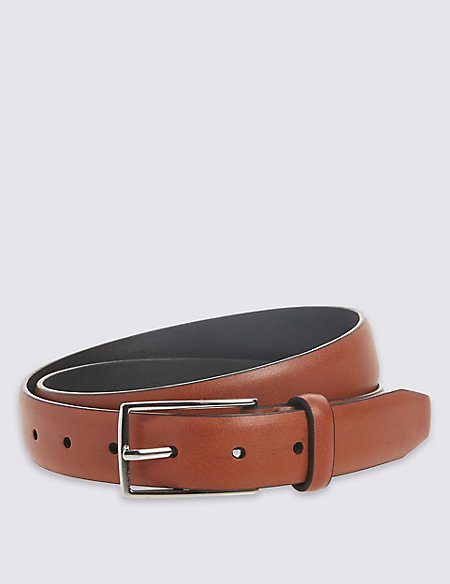 Faux Leather Edge Buckle Belt