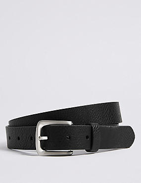 Rectangle Buckle Chino Belt, BLACK, catlanding