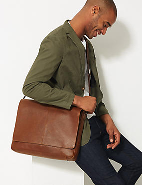 Pebble Grain Leather Messenger