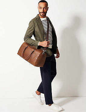 Pebble Grain Leather Holdall