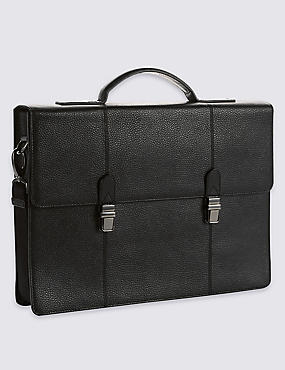 Pebble Grain Leather Briefcase