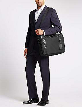 Scuff Resistant Cordura® Multifunctional Bag with Hidden Rucksack, BLACK, catlanding