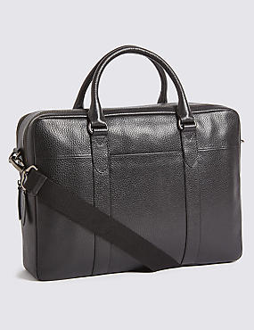 Rambler Leather Double Laptop Bag