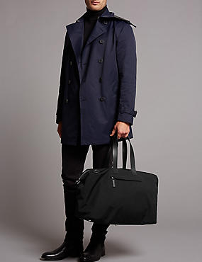 Holdall with Leather Trim, , catlanding