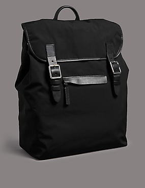 Rucksack with Leather Trim