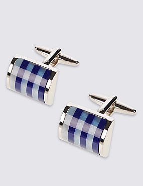 Striped Stone Cufflinks