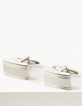 Marks and Spencer Metal Textured Cufflinks gunmetal