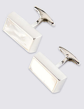 Chunky Mother of Pearl Cufflinks