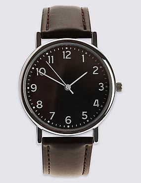 Basic Easy Read Round Face Watch