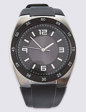 Round Face Silicone Watch
