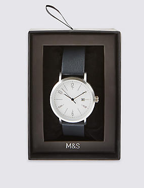 Modern Round Face Strap Watch