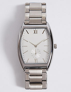 Classic Rectangle Metal Bracelet Watch