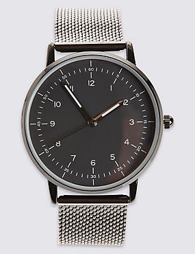 Gunmetal Milanese Watch