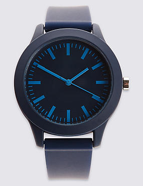 Modern Silicone Strap Watch