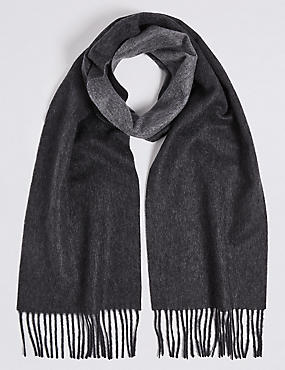 Reversible Pure Cashmere Scarf
