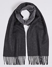 Reversible Pure Cashmere Woven Scarf
