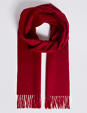 Extra Wide Pure Cashmere Woven Scarf