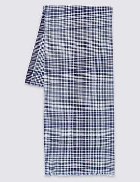Pure Cotton Checked Scarf