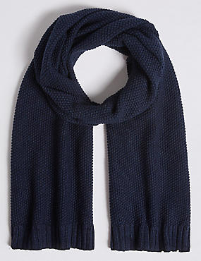 Pure Cotton Knitted Scarf