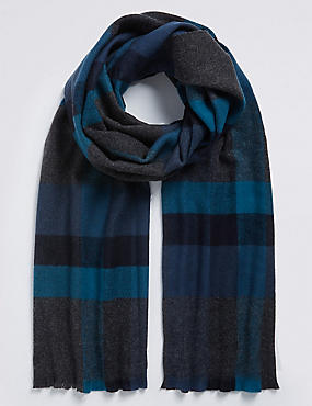 Overcheck Wider Width Woven Blanket Scarf
