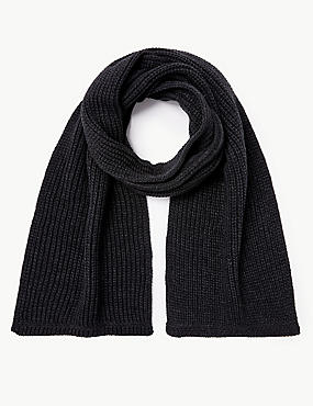 Knitted Scarf, CHARCOAL, catlanding