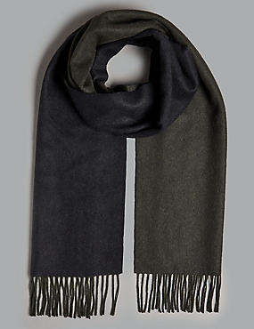 Pure Cashmere Reversible Scarf , GREY MIX, catlanding