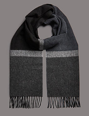 Pure Cashmere Striped Scarf, , catlanding