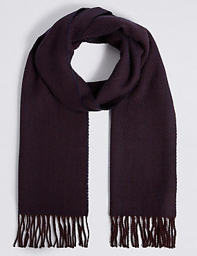 Herringbone Scarf with Wool, , catlanding