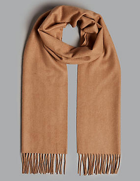 Pure Cashmere Wider Width Scarf, CAMEL MIX, catlanding