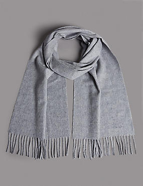 Pure Cashmere Wider Width Scarf, LIGHT GREY, catlanding