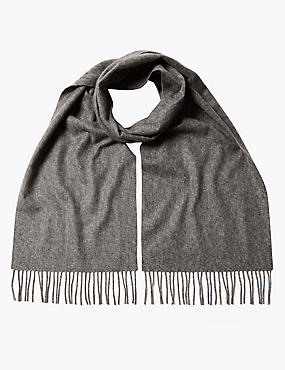 Pure Cashmere Wider Width Scarf, GREY MIX, catlanding