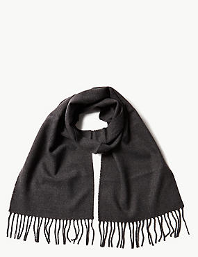 Brushed Woven Scarf, DARK CHARCOAL, catlanding
