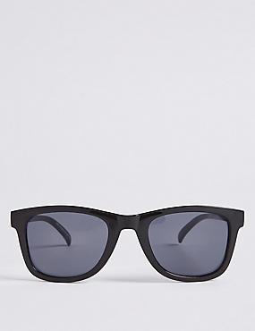 D Frame Sunglasses, BLACK, catlanding