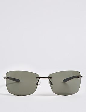 Rimless Sunglasses, , catlanding