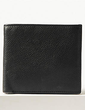 Leather Slim Popper Bifold Wallet