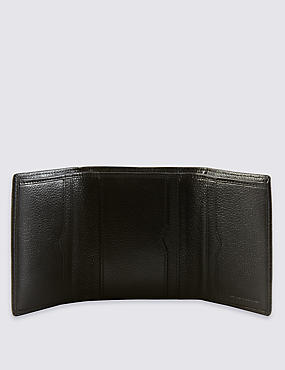Genuine Leather Slim Trifold Wallet with Cardsafe™