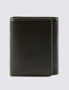 Leather Slim Tri Fold Wallet with Cardsafe™