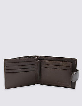 Leather Coin ID Tab Wallet with Cardsafe™