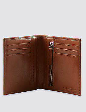 Leather Tall Bifold Wallet with Cardsafe™