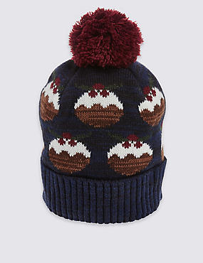 Christmas Pudding Beanie Hat