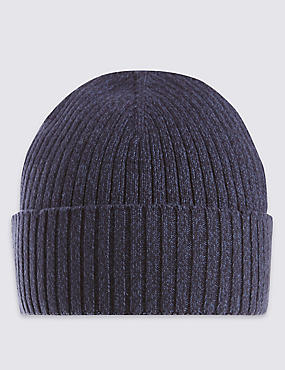 Pure Cotton Knitted Beanie Hat with StayNEW™