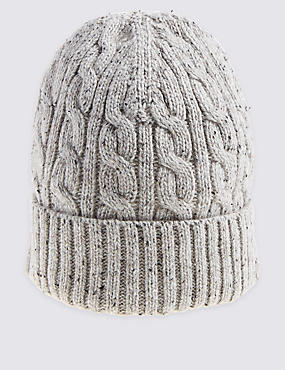 Donegal Cable Knitted Beanie