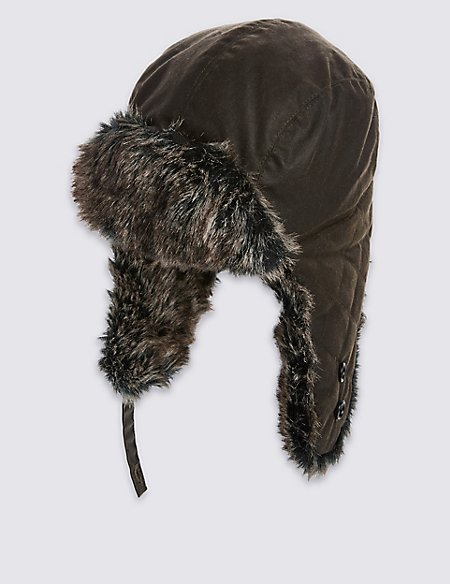 Pure Cotton Thinsulate™ Trapper Hat with Stormwear™