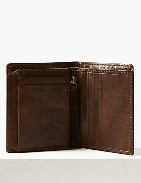 Leather Tri Fold Wallet