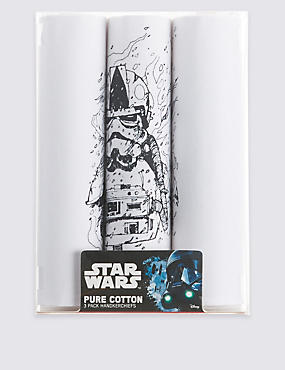 Star Wars™ 3 Pack Pure Cotton Handkerchiefs