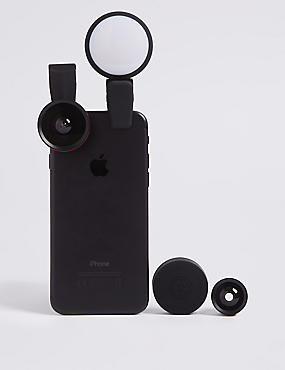Clip On x3 Lens and Light Kit