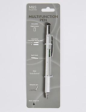 4 in 1 Stylus Pen, SILVER, catlanding